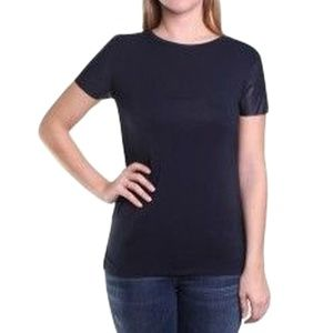 Michael Kors Tops - Michael Kors Faux Leather Sleeve Top, T-shirt XS